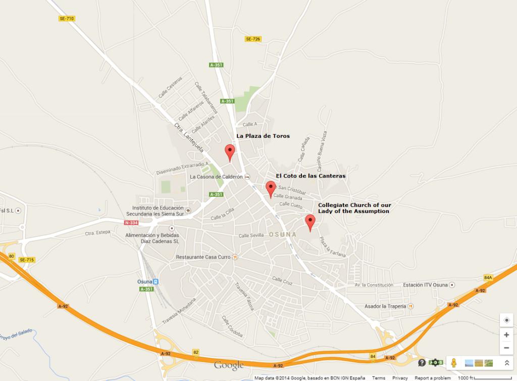 Map of Osuna, Spain