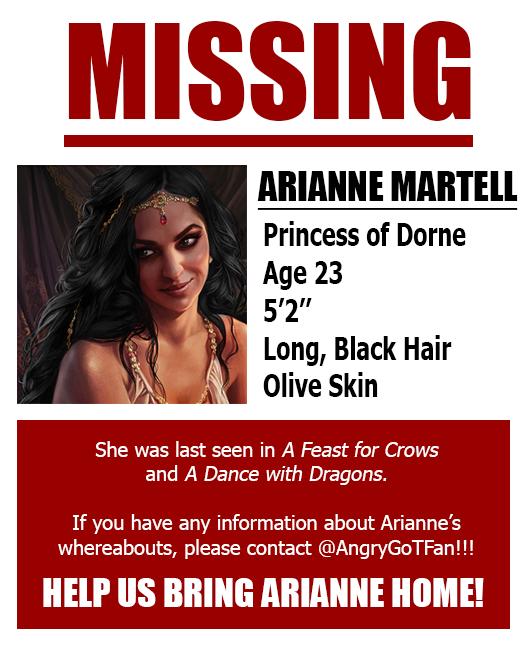 Missing: Arianne Martell