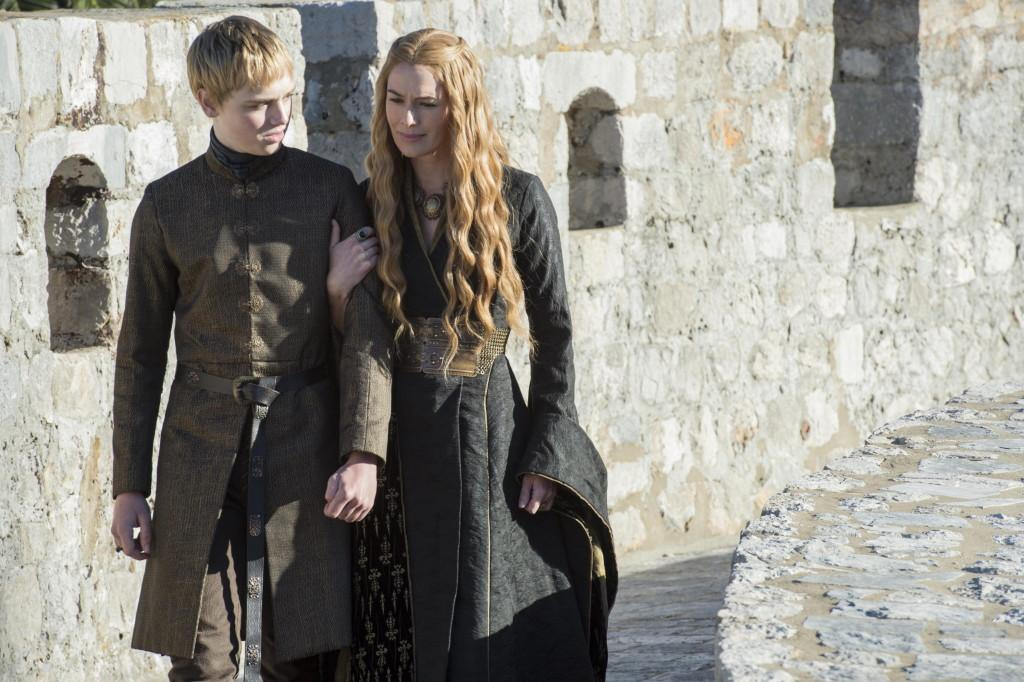 Dean-Charles Chapman as Tommen Baratheon and Lena Headey as Cersei Lannister _ photo Macall B. Polay_HBO