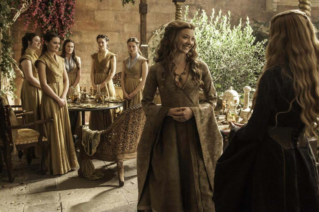 Natalie Dormer as Margaery Tyrell and Lena Headey as Cersei Lannister _photo Helen Sloan_HBO