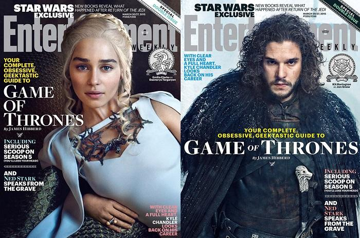 Four collectible Entertainment Weekly covers coming soon featuring Game of Thrones