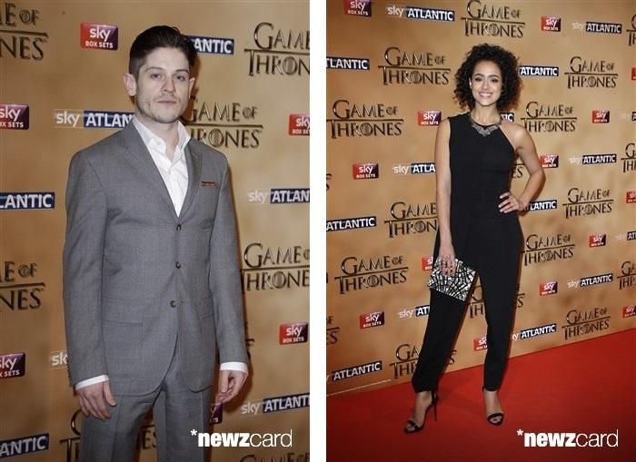 Iwan Rheon and Nathalie Emmanuel