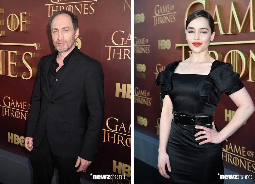 Michael McElhatton and Emilia Clarke
