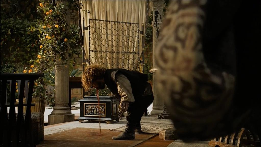 Tyrion puking