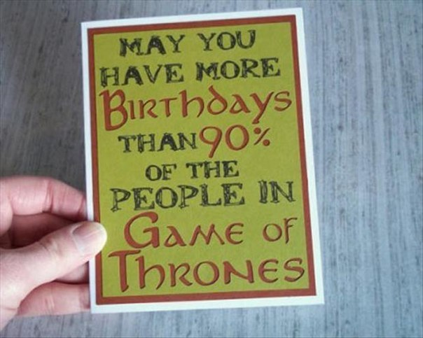GOT birthday card