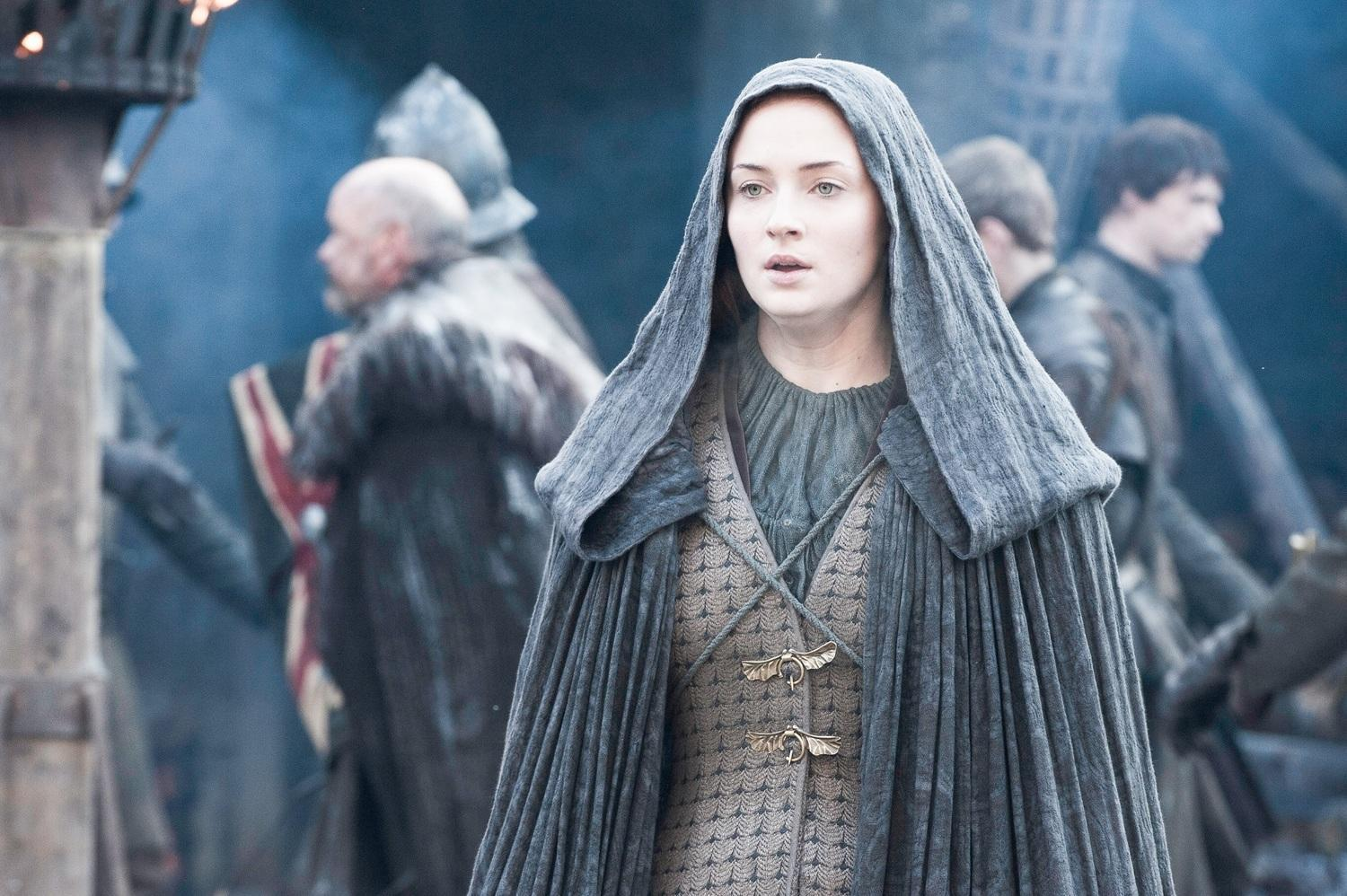 Updated Sophie Turner Spotted Filming At Winterfell With A Visitor