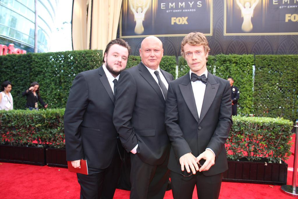 John Bradley, Conleth Hill and Alfie Allen Photo: @TelevisionAcad