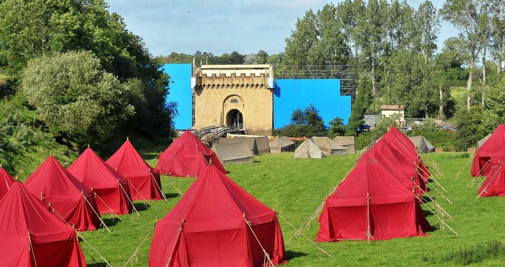 set and tents