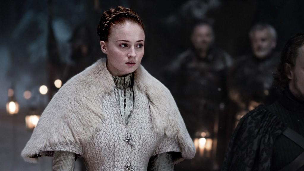 Sansa in her wedding dress (again).