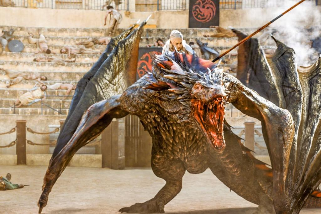 Dany escaping the fighting pits