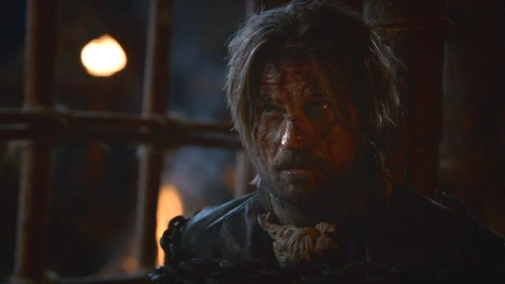 "A captive Jaime Lannister in ""A Man without Honor"""