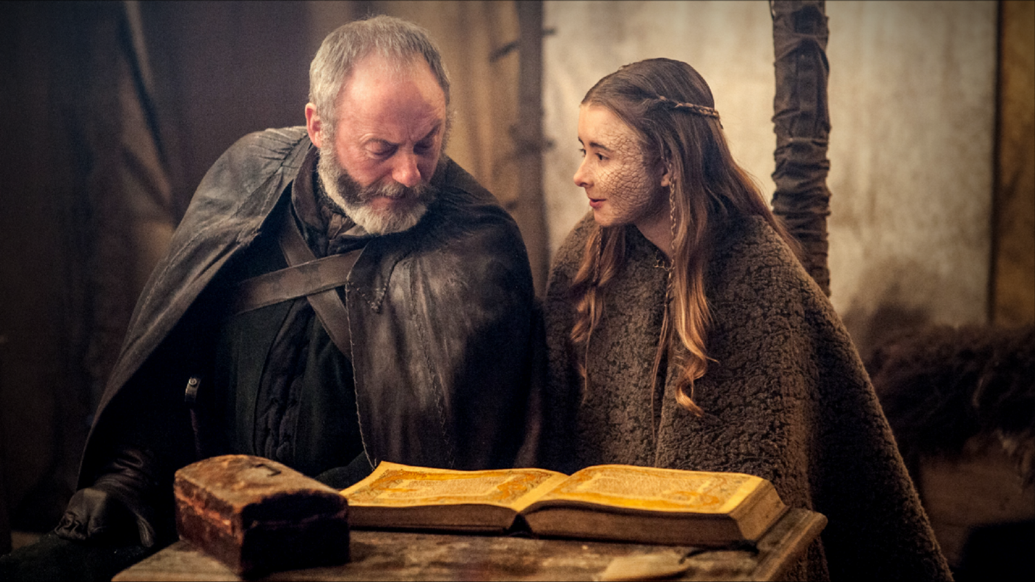 "Davos Seaworth and Shireen Baratheon in ""The Dance of Dragons"""