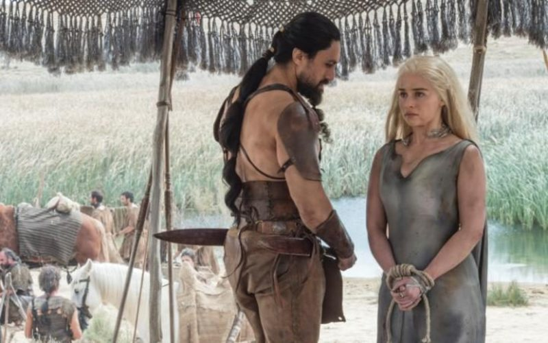 "Daenerys and Khal Moro in ""The Red Woman"""