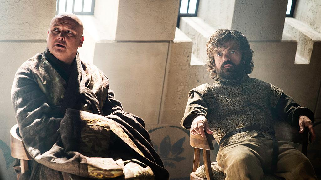 "Tyrion Lannister and Lord Varys in ""Book of the Stranger"""