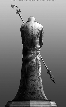 Concept art for the Sept of Balor statue of the Stranger from GameOfThrones.wikia.com