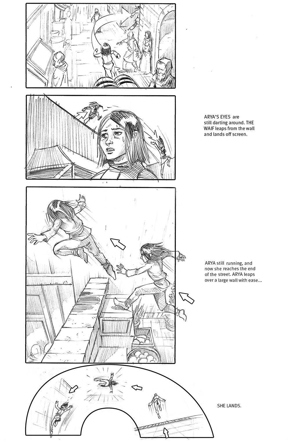 Arya storyboard