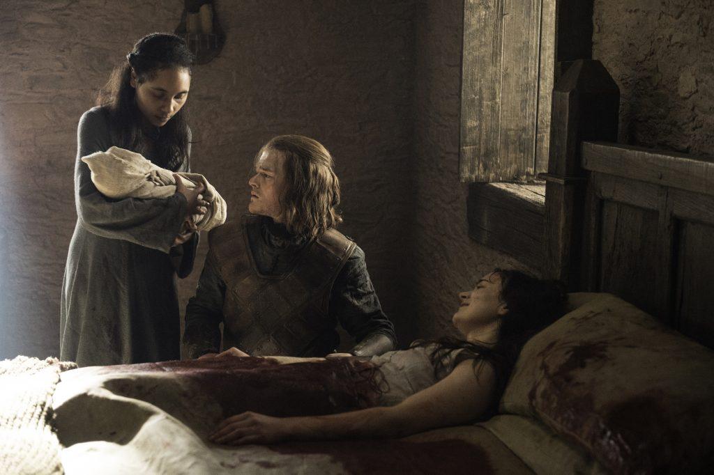 Robert Aramayo as Young Ned Stark and Aisling Franciosi as Lyanna Stark. Credit: Helen Sloan/ HBO