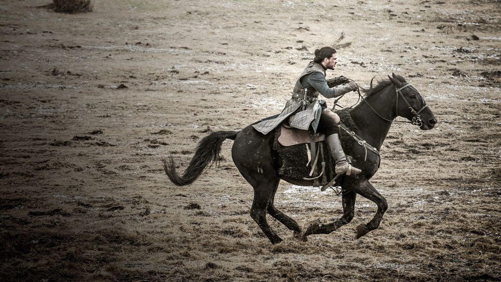 Jon rides