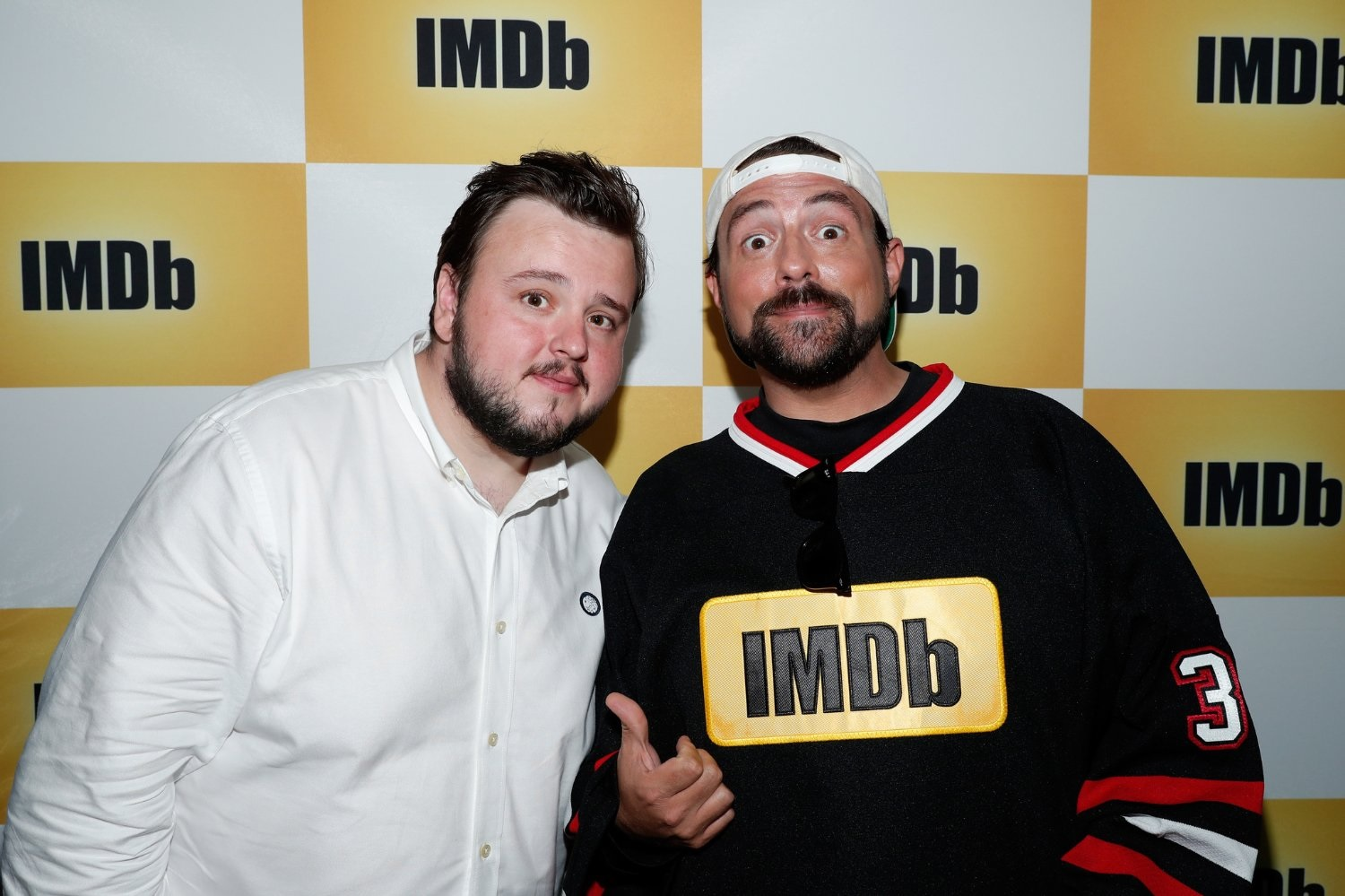 John Bradley at Comic Con '16 with director Kevin Smith