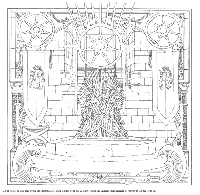 Official HBO Game Of Thrones Coloring Book Coming From Chronicle Books