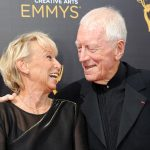 Max von Sydow with his wife Catherine Brelet. Photo: Emmys.com