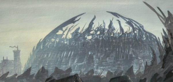 The Dragonpit of King's Landing depicted by Franz Miklis for Fantasy Flight Games