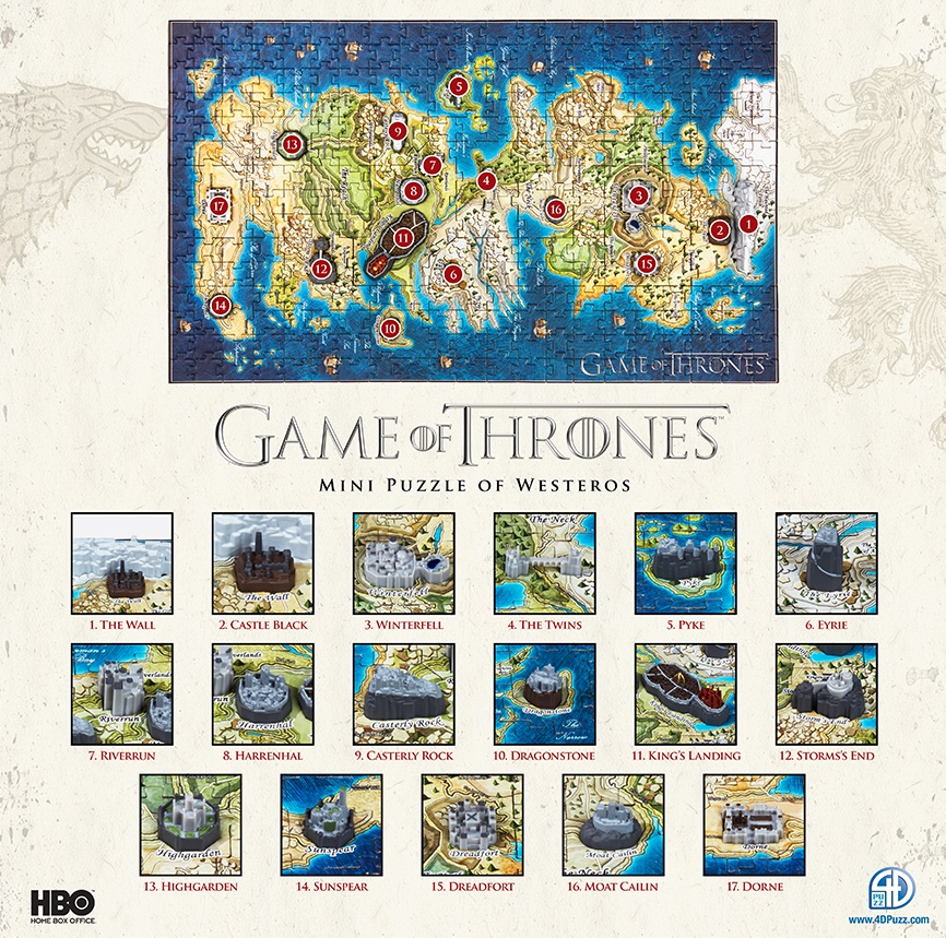 Win a Game of Thrones Westeros Mini Puzzle! | Watchers on ... Game Of Thrones D Map Westeros Puzzle on detailed map of westeros game of thrones, crown lands map game of thrones, google map game of thrones,