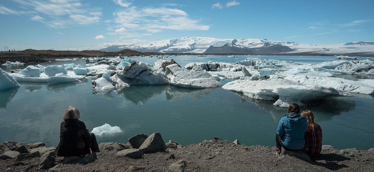 The Jökulsárlón glacial lagoon in Iceland