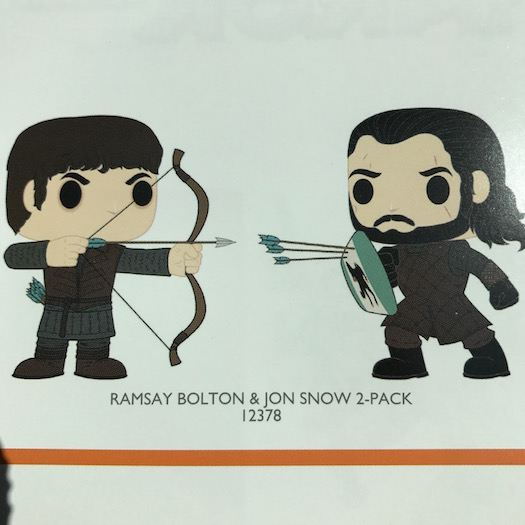 Ramsay Bolton and Jon Snow Twin Pack Funko Pop 2017