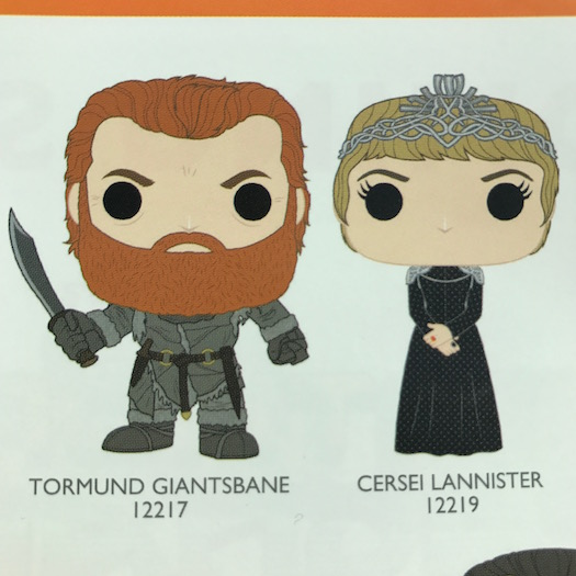 Tormund Giantsbane and Cersei Lannister Funko Pop 2017