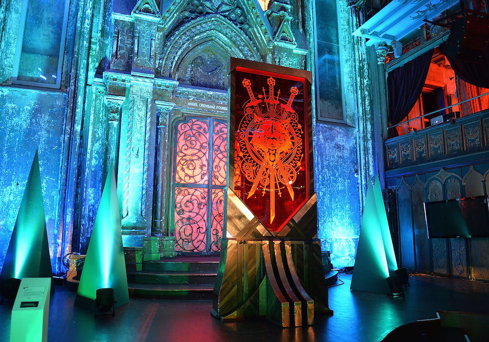 NEW YORK, NY - APRIL 20: The view of atmosphere at HBO's Art the Throne: Immersive Art Experience at The Angel Orensanz Foundation on April 20, 2016 in New York City. (Photo by Slaven Vlasic/Getty Images for HBO)