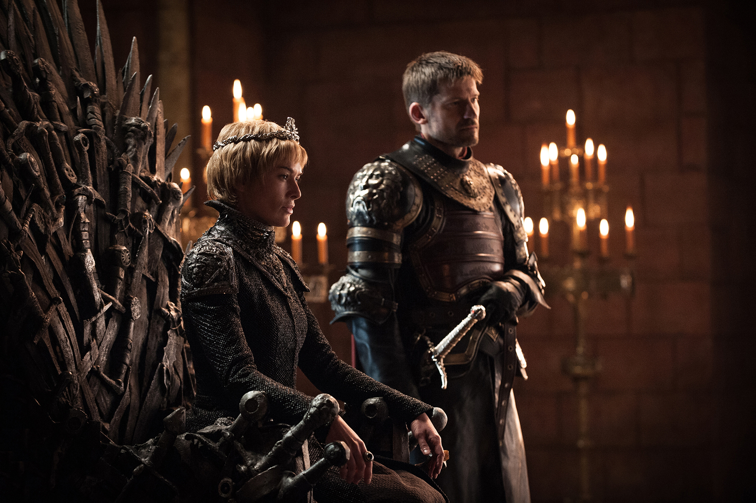 Cersei Lannister (Lena Headey) and Jaime Lannister (Nikolaj Coster-Waldau) in the Red Keep / Photo: Helen Sloan/HBO