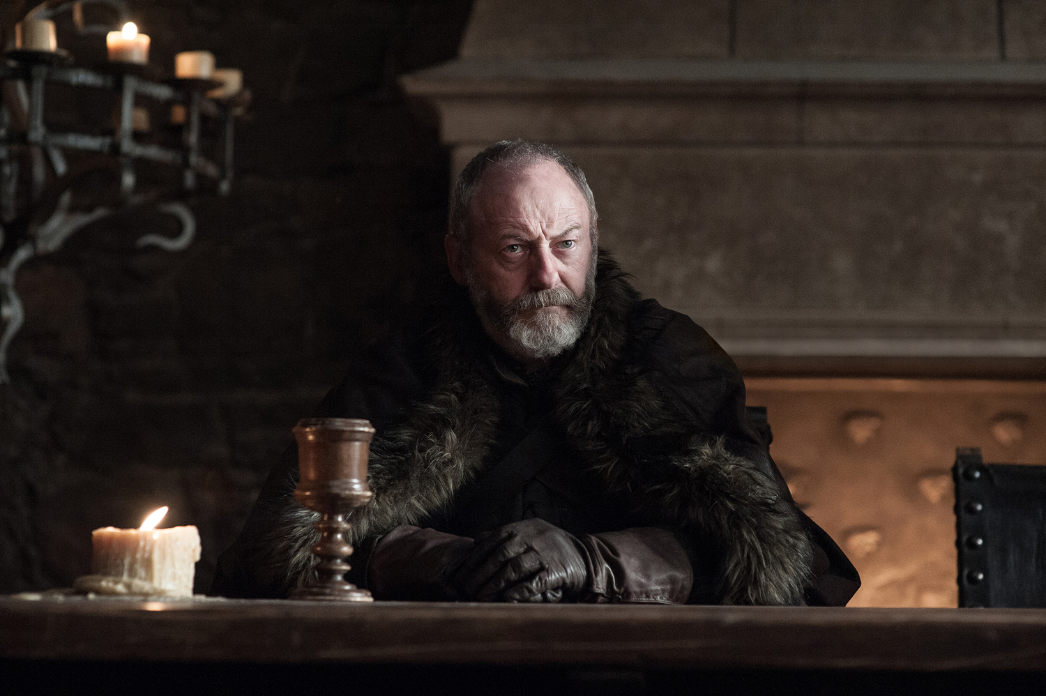 Davos Seaworth (Liam Cunningham) in Winterfell / Photo: Helen Sloan/HBO