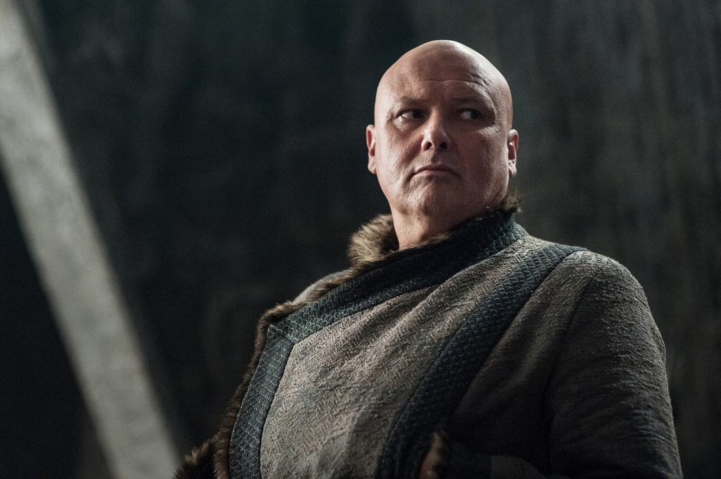 Varys (Conleth Hill) in his new winter clothes / Photo: Helen Sloan/HBO