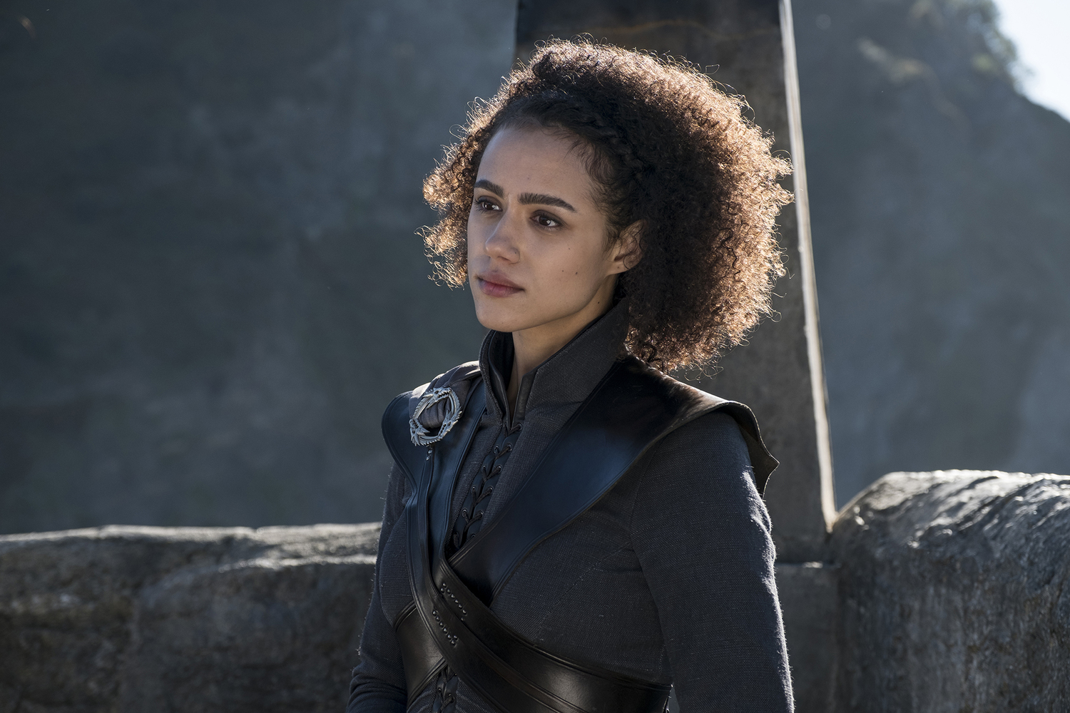 Missandei (Nathalie Emmanuel) in Daenerys' new stronghold / Photo: Helen Sloan/HBO