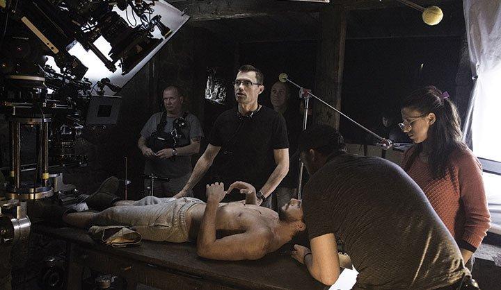 """Greg Middleton, standing over Kit Harington in """"Home"""""""