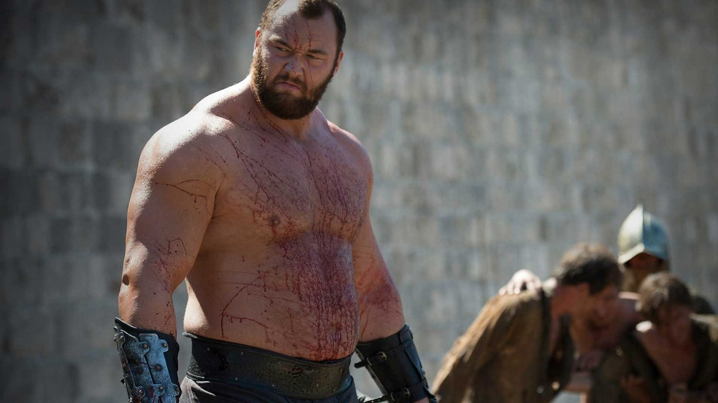 Hafþór Björnsson as Gregor Clegane on Game of Thrones