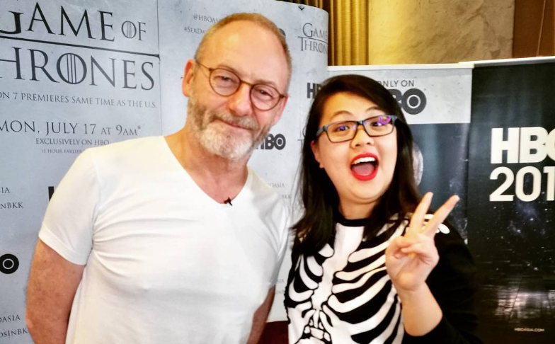 Liam Cunningham and Samantha Khor / Photograph by saysdotcom