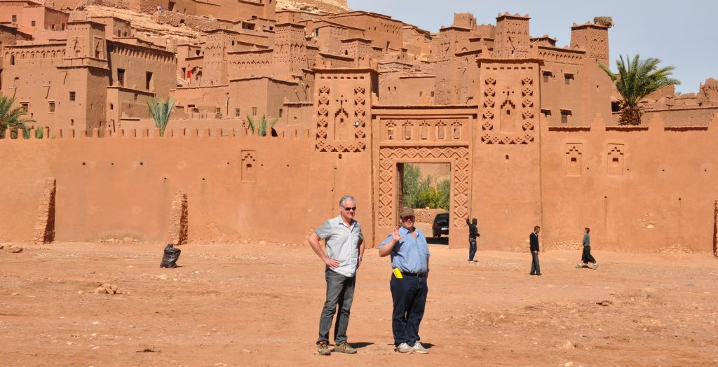 Rob McLachlan and director David Nutter scouting Morocco. (Photo: Rob McLachlan)