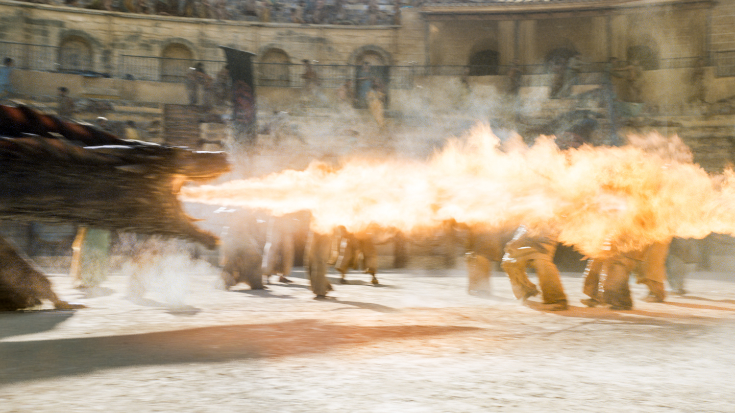 "Drogon spits fire at Daznak's Pit in ""Dance of Dragons"""