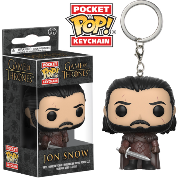 Game of Thrones Funko Pop Jon Snow Keychain