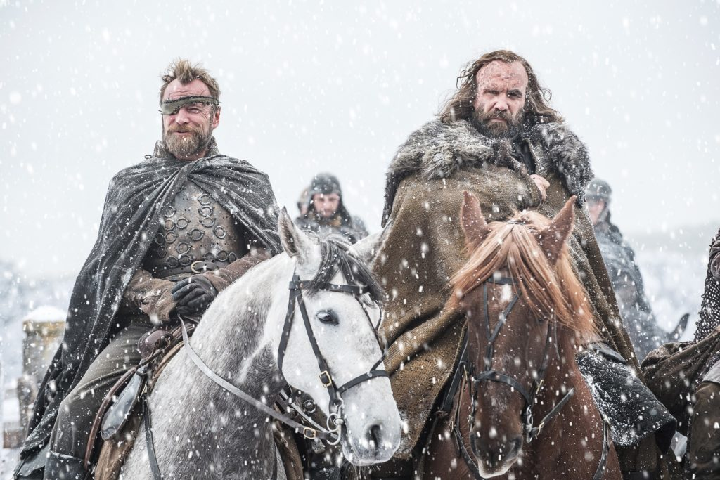Richard Dormer as Lord Beric, Rory McCann as Sandor. Photo: HBO