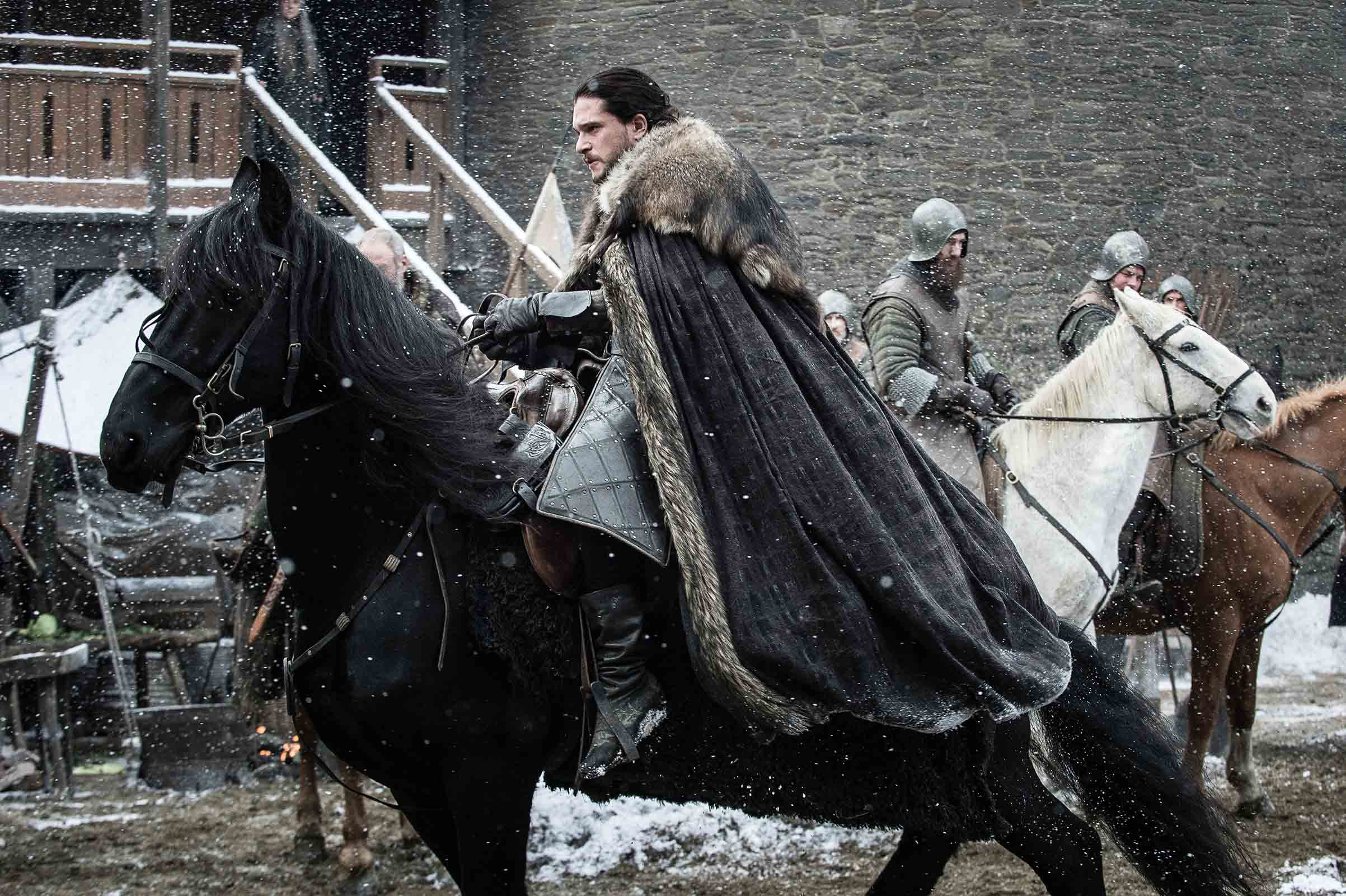 Jon Snow on a horse