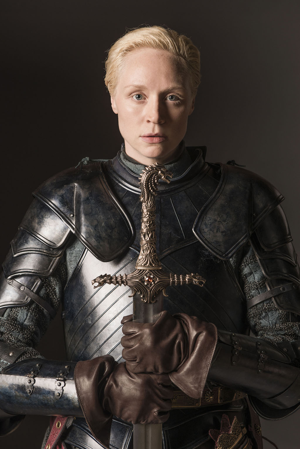 Portrait of Gwendoline Christie as Brienne of Tarth. Photo: Helen Sloan.