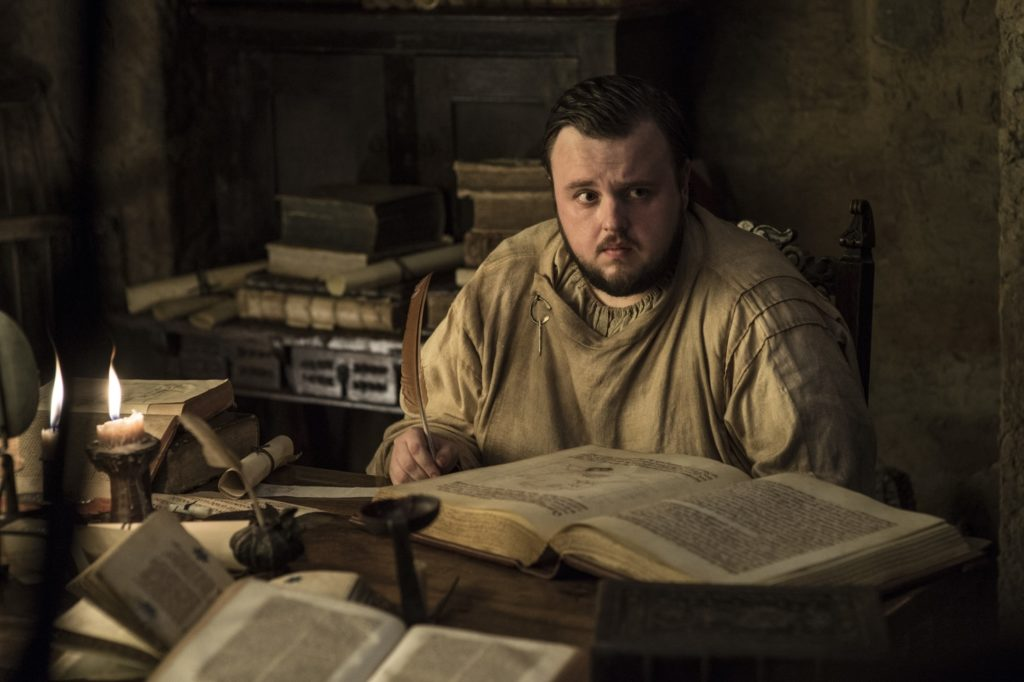 John Bradley as Samwell Tarly in Oldtown. Photo: HBO
