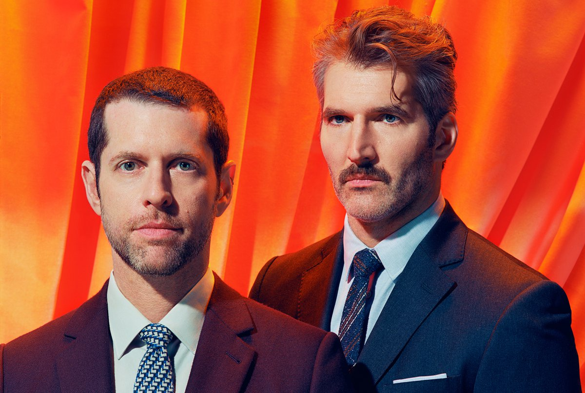 D.B. Weiss and David Benioff. Photo: TIME / Miles Aldridge