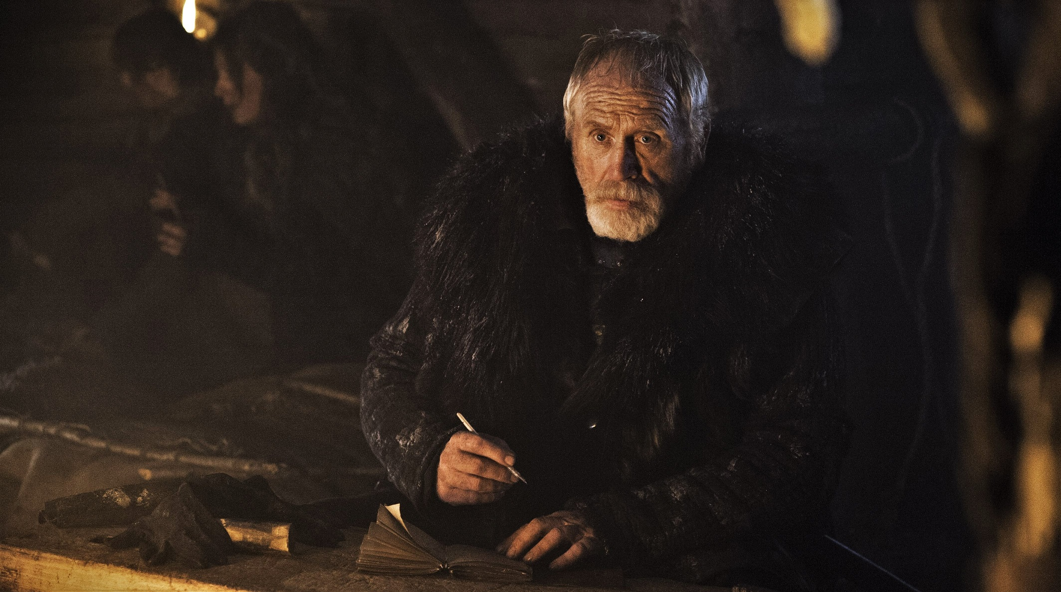"James Cosmo as Lord Commander Jeor Mormont in ""And Now His Watch Is Ended."" Photo: HBO"