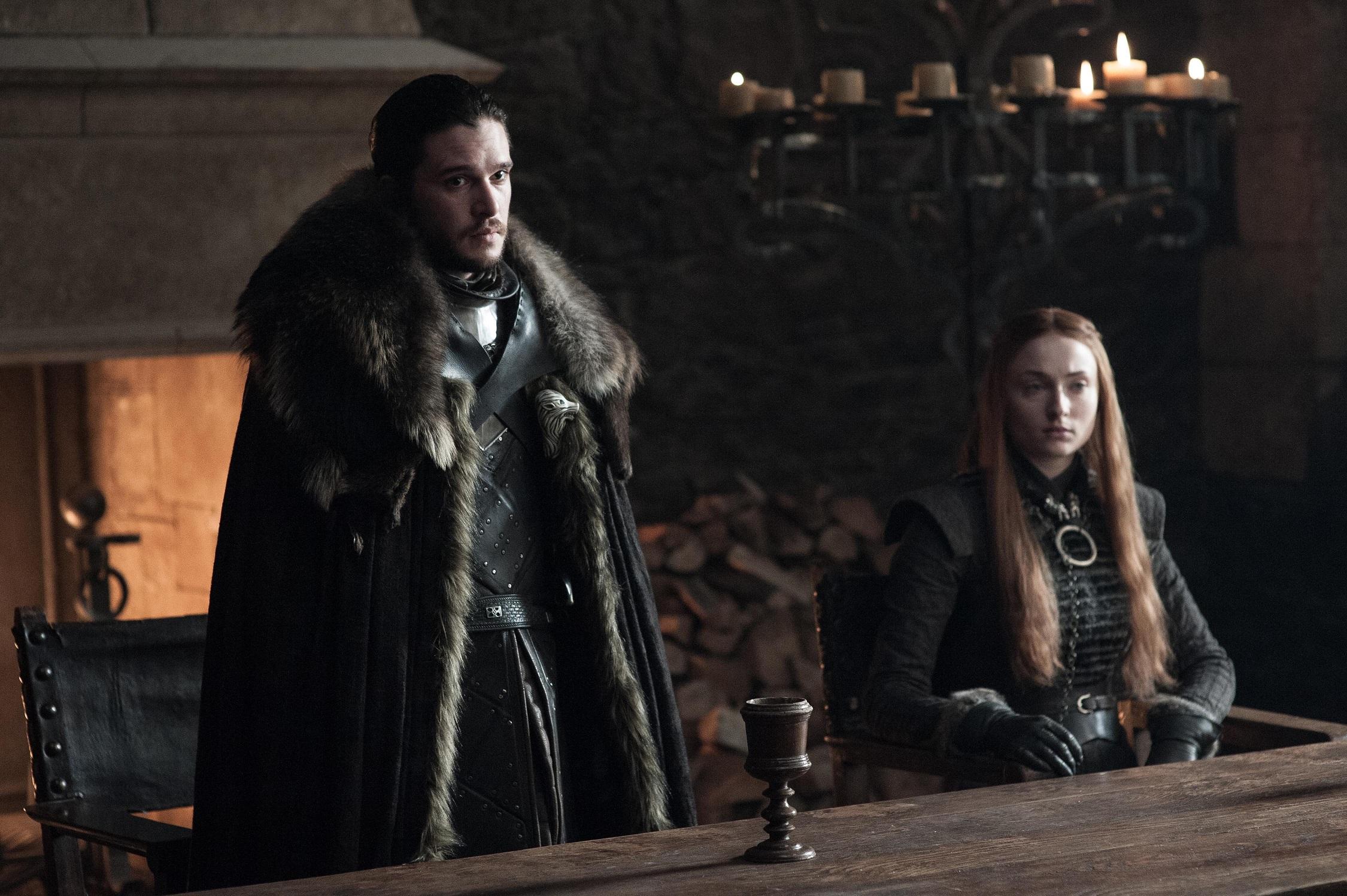 701 - Winterfell - Jon, Sansa 1