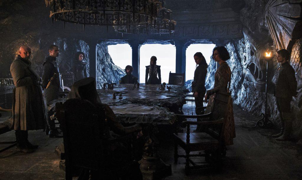 702 - Dragonstone - Dany, Tyrion, Missandei, Grey Worm, Varys, Yara, Theon, Olenna, Ellaria 1