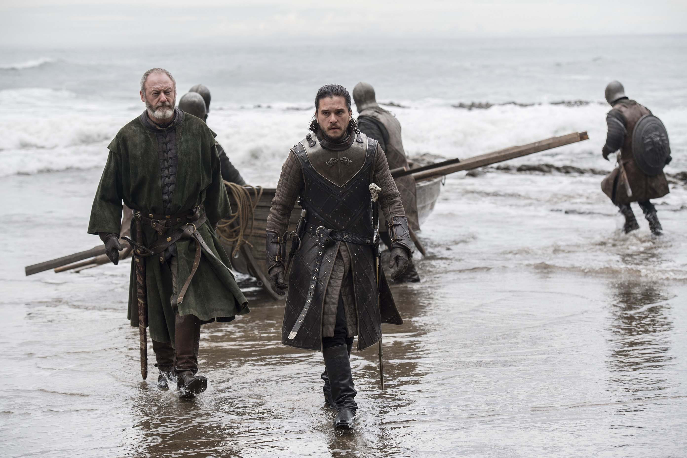 Kit Harington as Jon Snow and Liam Cunningham as Davos Seaworth. Photo: HBO